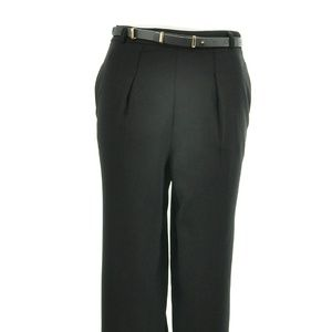 FOREVER 21 BLACK WIDE LEG CROPPED PANTS SIZE XS